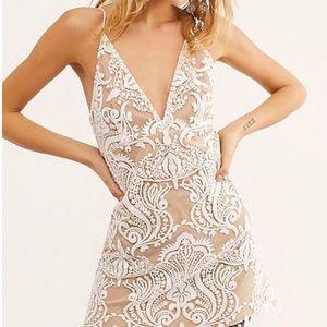 Free People NWT Sz 4 Night Shimmers Mini Dress